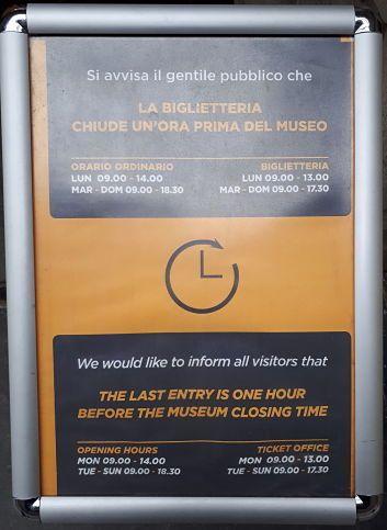 horario taquillas museo egipcio de turin